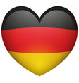 flag of germany in heart shape vector image vector image