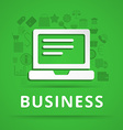 Flat design concept icons for business vector image