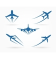 Flying up airplane icons vector image vector image
