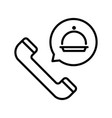 food order phone thin line icon isolated on vector image