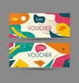 gift voucher template with retro design vector image vector image