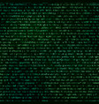green abstract complicated crypto symbols on black vector image