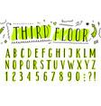 hand drawn latin narrow uppercase font vector image