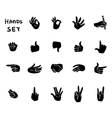 Hands gestures flat pictograms set vector image vector image