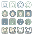 Home icon sign or symbol set vector image vector image