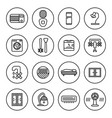household appliances icon set vector image vector image