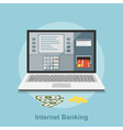 internet banking 2 vector image