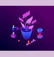 investment concept - modern colorful isometric vector image vector image