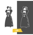 lady old fashion vector image vector image