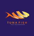 logo tuna fish gradient colorful style vector image
