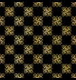 luxe gold black chess board style pattern vector image vector image