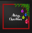 marry christmas and new year greeting card vector image