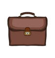 old retro leather school bag school backpack vector image