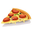 pepperoni cheesy pizza part vector image vector image