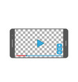 phone video player on white background in flat vector image