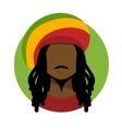 Rastafarian man vector image vector image