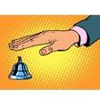 reception Desk call bell hand vector image