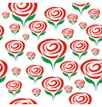 rose seamless flower background template vector image vector image