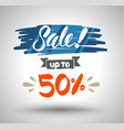 sale banner drawing style vector image vector image