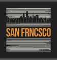 san francisco graphic t-shirt design tee print vector image vector image