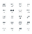 Set of hand drawn funny smiley faces Sketched vector image vector image