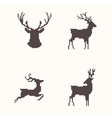 Set of silhouette images deer vector image vector image