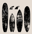 set of surf boards vector image