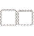 Set openwork frame for design vector image vector image
