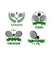 set tennis badges or emblems vector image
