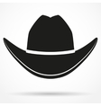 Silhouette symbol of cowboy hat vector image vector image