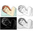 sleeping woman vector image