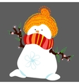 Snowman in Spring Isolated vector image vector image