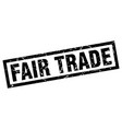 square grunge black fair trade stamp vector image vector image