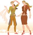 Summer fashion models 2 vector image