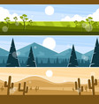 three banners picturesque landscapes vector image