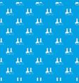 transparent flasks pattern seamless blue vector image vector image