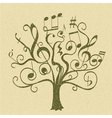 tree with curly twigs vector image vector image