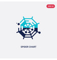 two color spider chart icon from business concept vector image vector image
