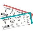two realistic boarding pass vector image vector image