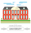 university building flat design vector image vector image