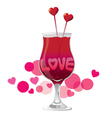 Valentines Day Love cocktail vector image