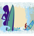 Vertor abstract frame Surf Beach vector image