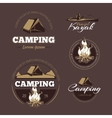 Vintage outdoor adventure and camping color vector image