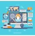 Webinar concept design vector image vector image