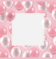 white banner with balloons vector image