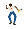 young african american man with winner cup happy vector image vector image