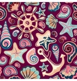 Nautical background bright seamless pattern with vector image