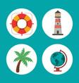 set vacations travel concept symbol vector image