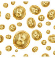 bitcoin seamless pattern gold coins vector image