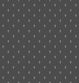 Cross seamless pattern Religion cross dark vector image